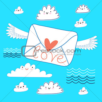 greeting the envelope with love