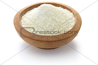 a pile of white corn grits