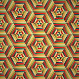 Hexagon seamless pattern colorful background