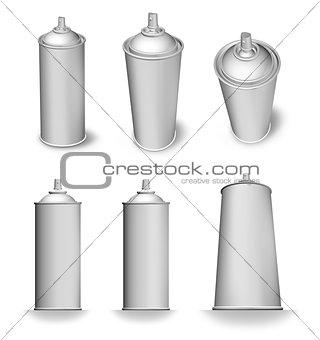 Blank aerosol can variations