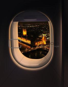 Approaching destination London
