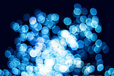 Blue bokeh effect