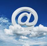Cloud internet email service concept