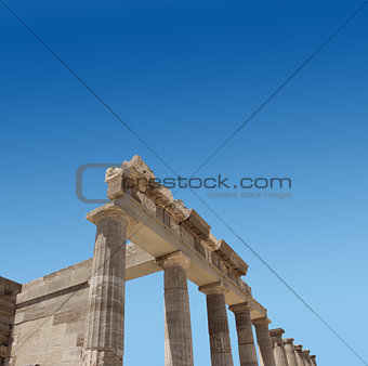Ancient Greek temple ruins
