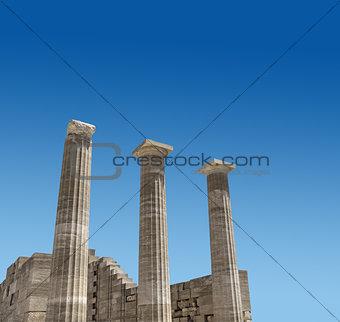 Ancient Greek temple columns