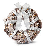 White gold silver Christmas wreath