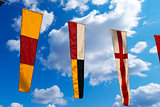 Nautical Flags on a Blue Sky (098)