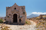 Island Gramvousa Fortress Church Ruins