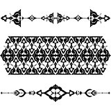 black oriental ottoman design twenty-five
