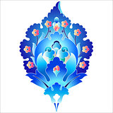 blue oriental ottoman design forty six