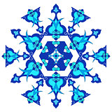 blue oriental ottoman design thirty version