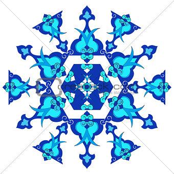 blue oriental ottoman design thirty version