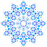 blue oriental ottoman design thirty-five