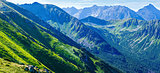 Summer Tatra Mountain panorama ,Poland