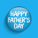 Happy Fathers Day Blue Icon Button