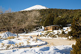 Historic Cabin Winter Day Great Basin National Park Southwest US