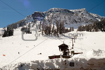 Ski Lift Snow Skiing Slopes North Cascades Summit