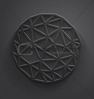 Abstract gray polygonal circle