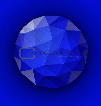 Blue polygonal button