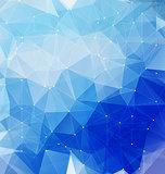 Blue polygonal mosaic with net