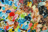 Image of oil-paint palette