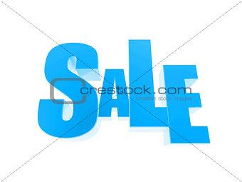 3d sale symbol