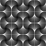 Design seamless swirl movement geometric pattern