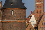 Holstein gate and salt storehouses in Lubeck