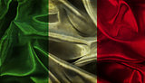 Grunge Italian flag background
