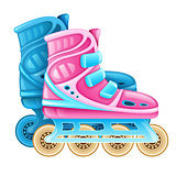 Roller skates for rolling sport