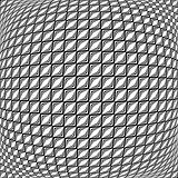 Design monochrome warped grid diamond pattern