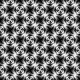 Design seamless monochrome whirlpool pattern