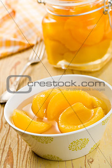 canned peach