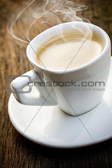 aromatic cup of espresso
