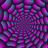 Ball Spiral in Pink Blue and Purple
