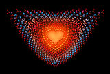 Symbolic diamond heart-shaped  red heart