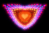 Symbolic diamond heart-shaped red heart that symbolizes love