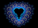 Symbolic diamond heart-shaped blue heart that symbolizes love