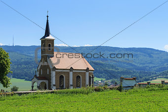 Country church in the valley