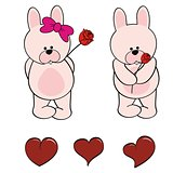 bunny baby cute cartoon set