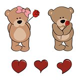 teddy bear baby cute cartoon set