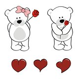 polar bear baby cute cartoon set