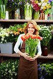 In flower store