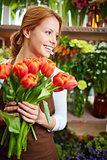 Joyful florist