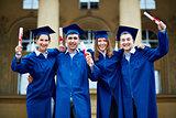 Graduates with certificates