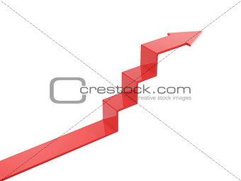 arrow ascend steps