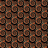 Design seamless colorful decorative spiral pattern