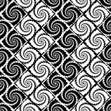 Design seamless monochrome vortex zigzag pattern