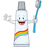 Cartoon Toothpaste Character