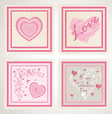 valentine`s day stamps set